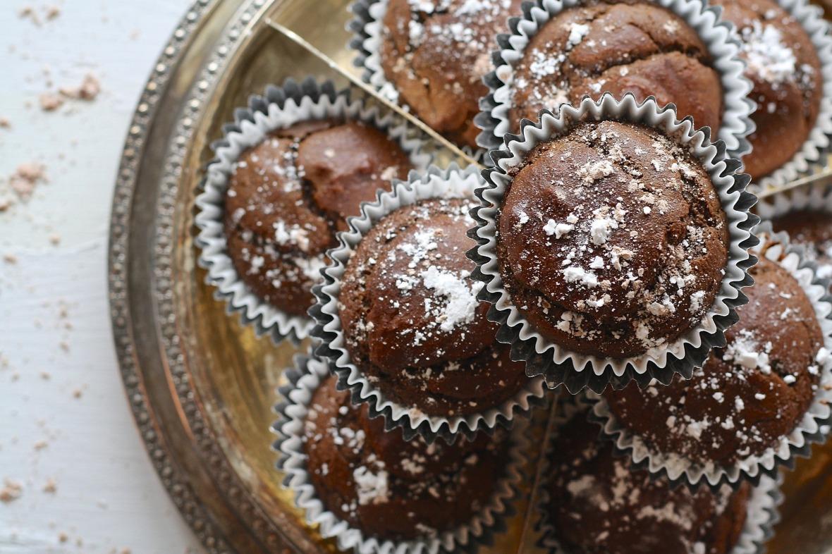 Fudgy Chocolate Breakfast Muffins